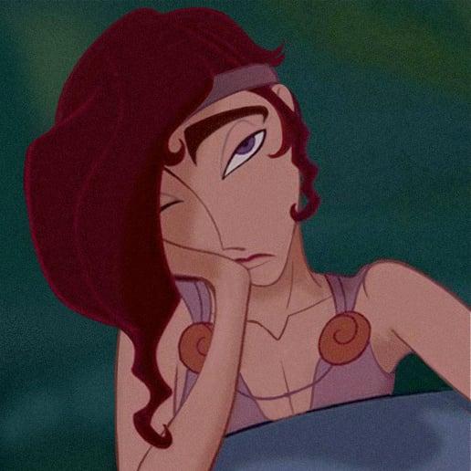 Versión masculina en caricatura de Meg de Hércules