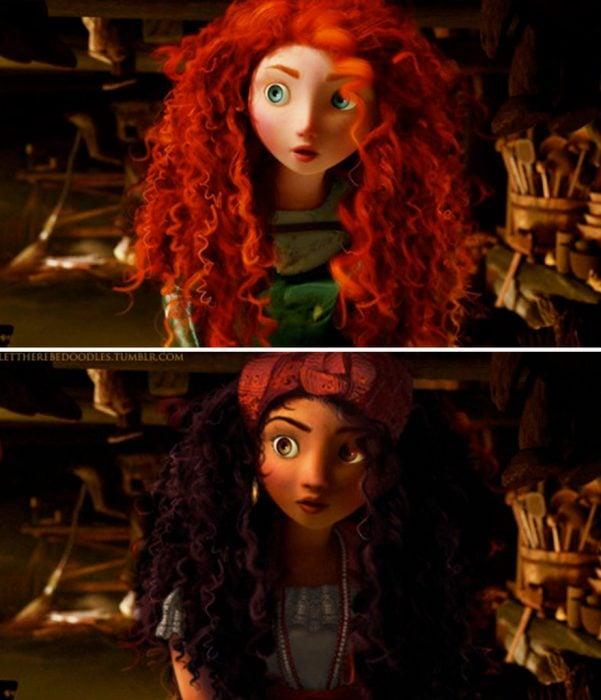 princesa de la película valiente