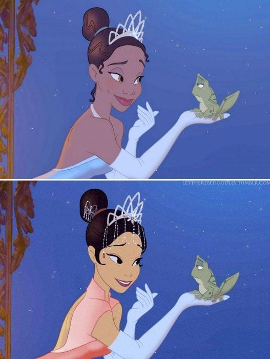 Princesa tiana de la princesa y el sapo
