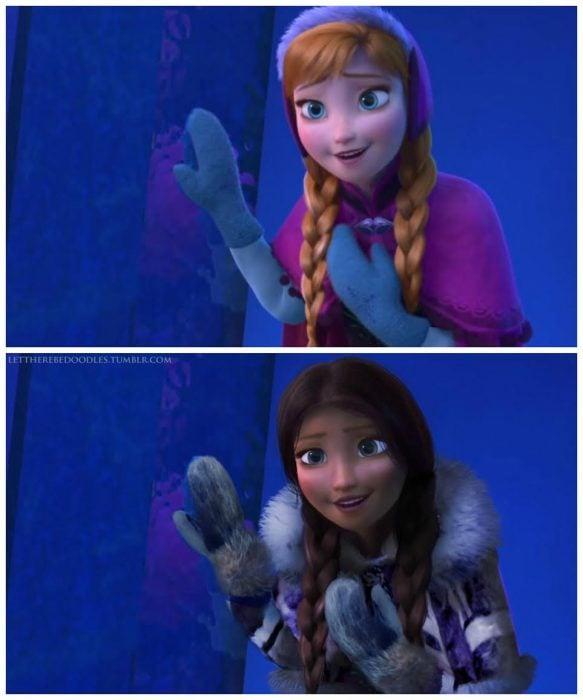 princesa ana de la película frozen