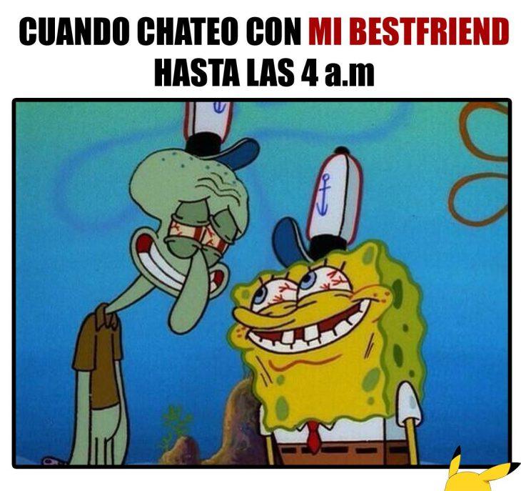 Meme de cuando chateas con tu mejor amiga
