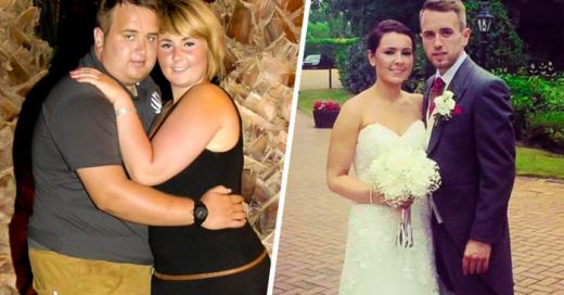 Esta pareja PERDIÓ 60 kilos para lucir radiantes el día de su BODA