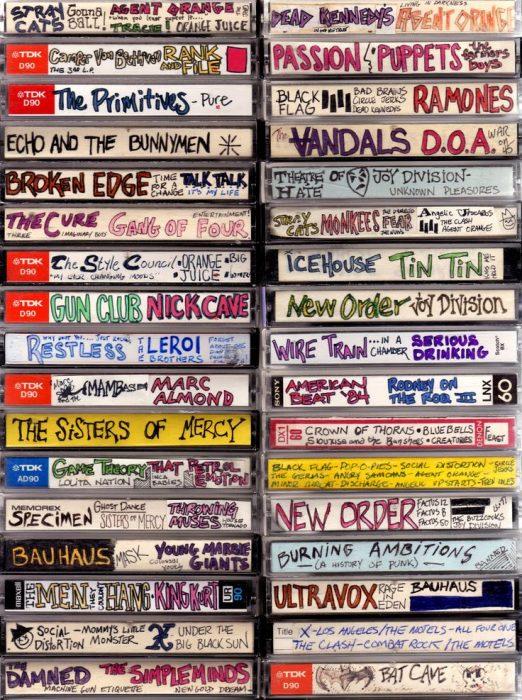 Casettes grabados bandas 90s