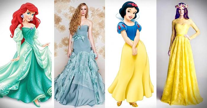 Vestidos de novia inspirados en princesas de disney