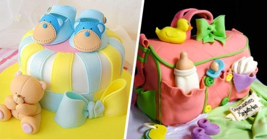 20 Deliciosos y divertidos PASTELES para un Baby Shower