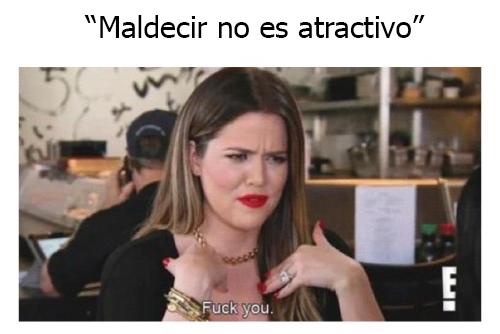 Kloe kardashian diciendo que si no es atractivo