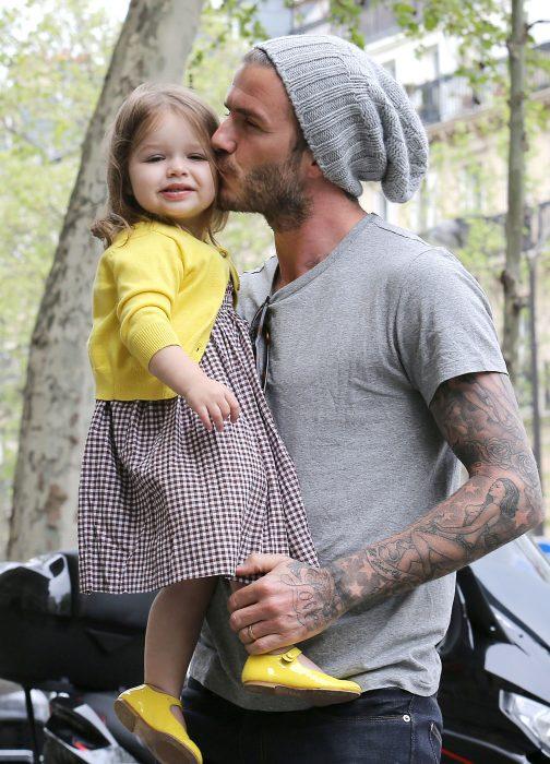 David y su pequeña hija Harper