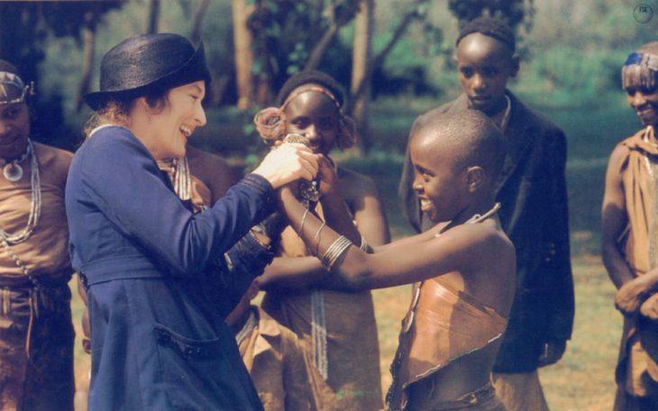 Escena de la película Mis memorias de África