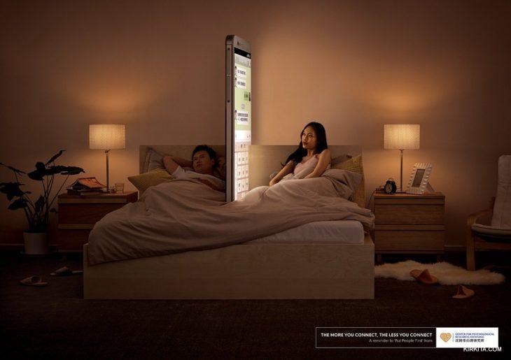 Campaña hecha en china para regular la adicción al celular