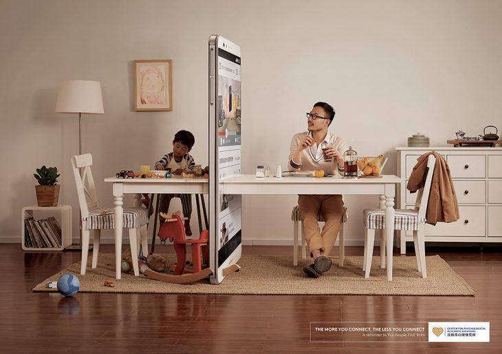 campaña publicitaría para regular el uso del celular