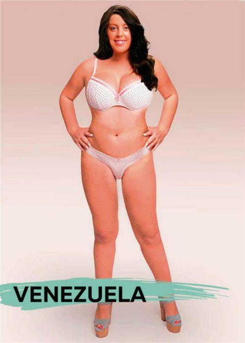 Mujer photoshopeada en Venezuela