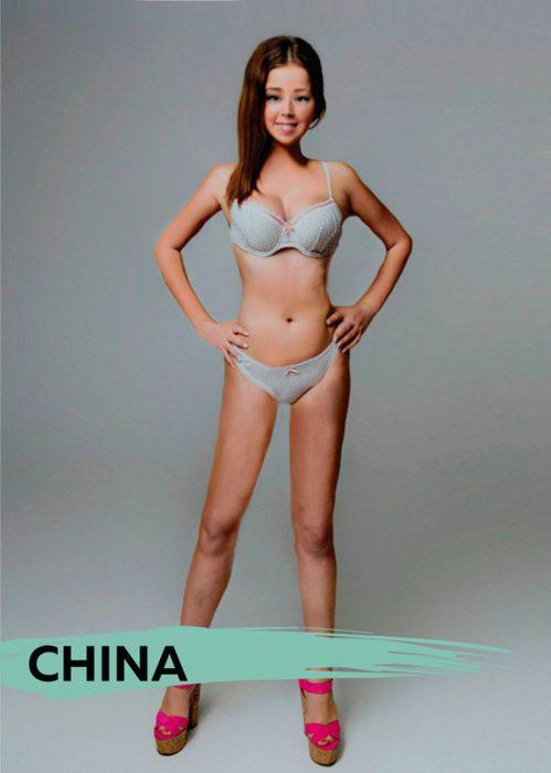 Mujer photoshopeada en China
