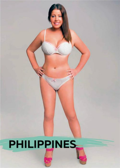 Mujer photoshopeada en Filipinas