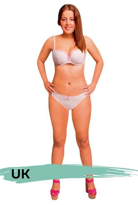 Mujer photoshopeada en el Reino Unido