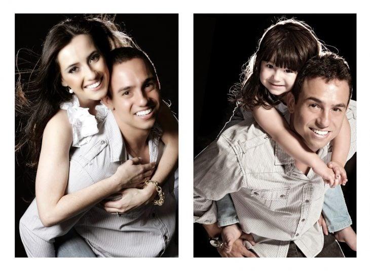 Foto de pareja brasileña recreada por padre e hija
