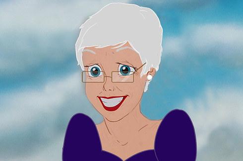 Ariel, la sirenita de anciana