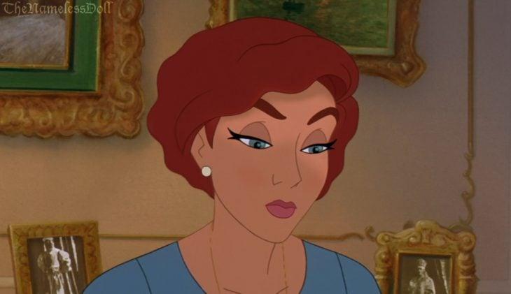 Princesa Anastacia con el cabello corto
