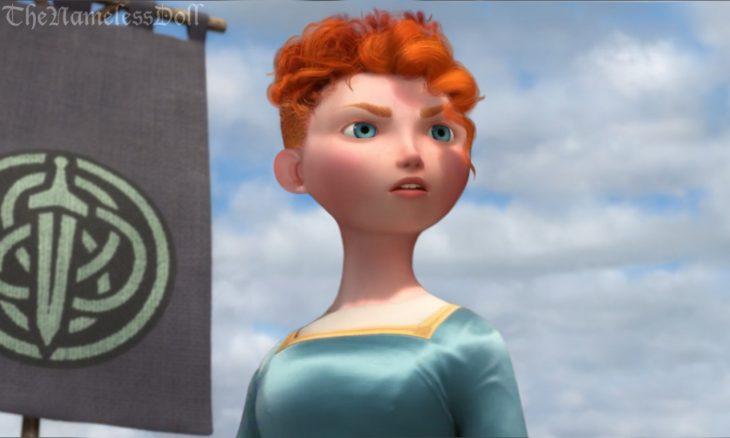 Princesa Merida de la película valiente con el cabello corto