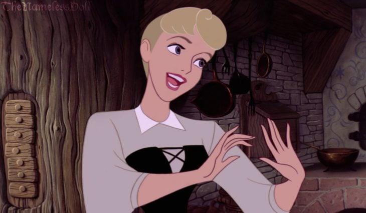 Princesa Aurora con el cabello corto