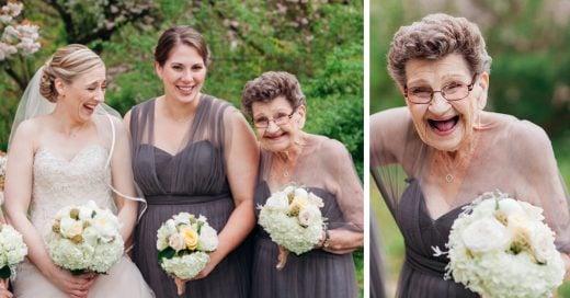 novia invito a su abuela a ser dama de honor
