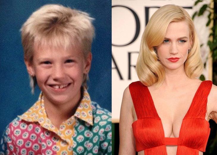 Actriz y modelo junary jones antes cuando era niña y después cuando es adulta