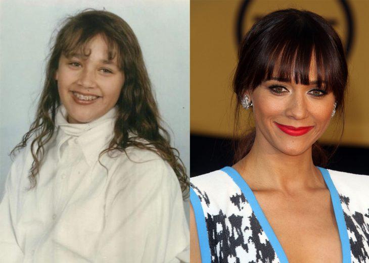 Actriz cuando era niña y después cuando es adulta
