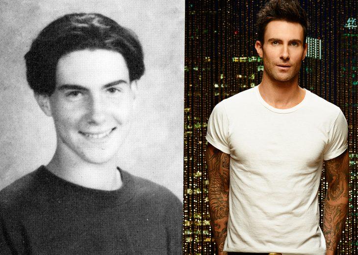 Adam levine en la adolescencia y ahora cuando es adulto