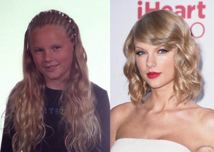 Taylor swift antes cuando era niña y después cuando es adulta