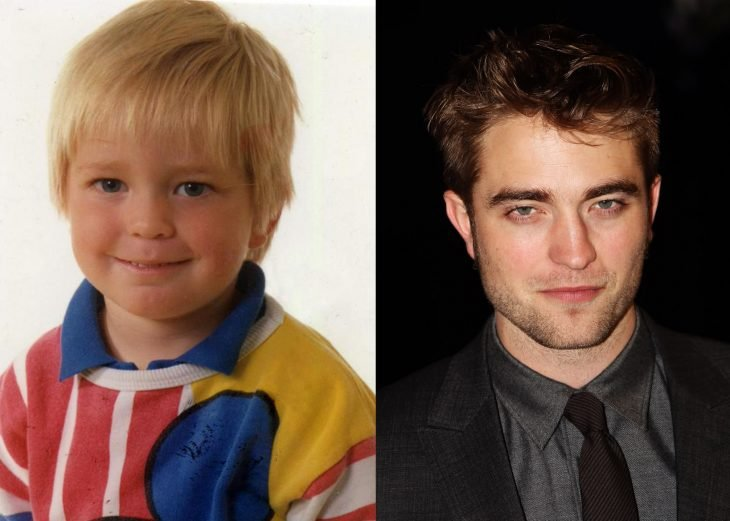 Robert pattinson de bebé y después de adulto
