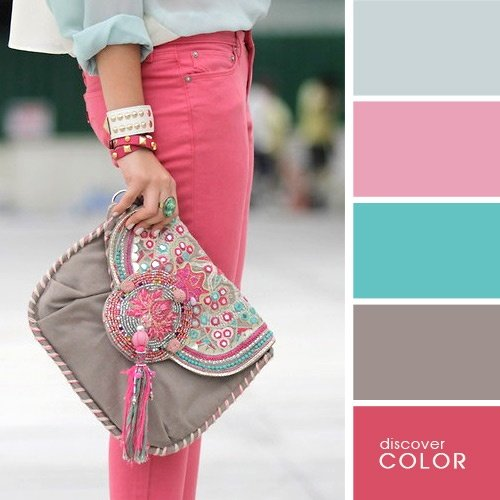 23 ideas de como debes combinar tu ropa para lucir perfecta for Combinacion de color rosa