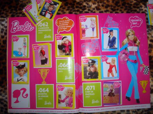 Álbum de estampas de barbie
