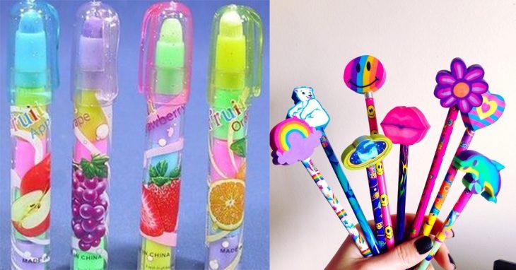 Gomas para borrar lápiz de colores y con olor a frutas