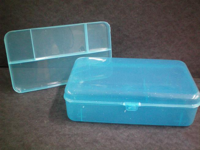 Caja porta lapices de color azul