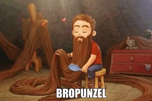 meme de rapunzel como se vería si fuera un chico