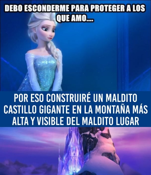 princesa elsa en su castillo