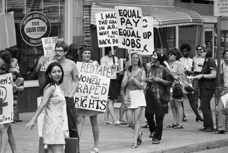 Marcha de mujeres por la coalisión de la igualdad en 1970