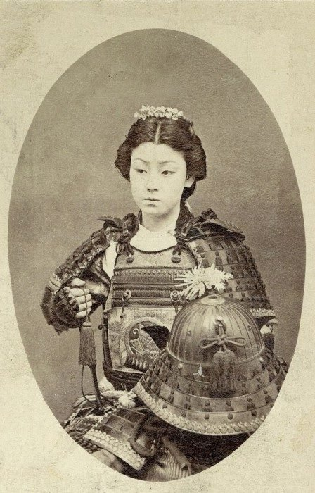 Guerrera samurai de 1800
