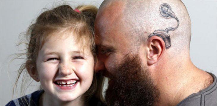 Charlotte campbell y su papá