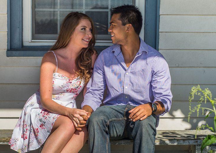 Solomon junto a su novia Carter antes de enterarse que él tenia cáncer