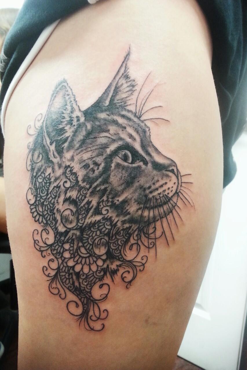 Cats Black Tatoo