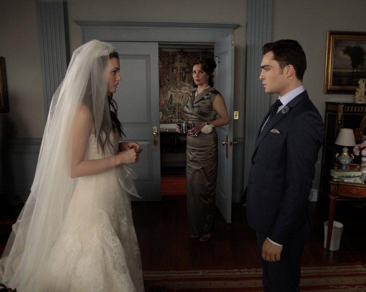 Escena de la serie gossip girls boda de blair
