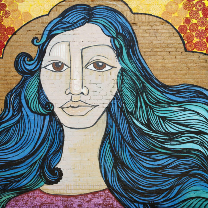 Murales de mujeres artistas callejeras; Alice Mizrahi