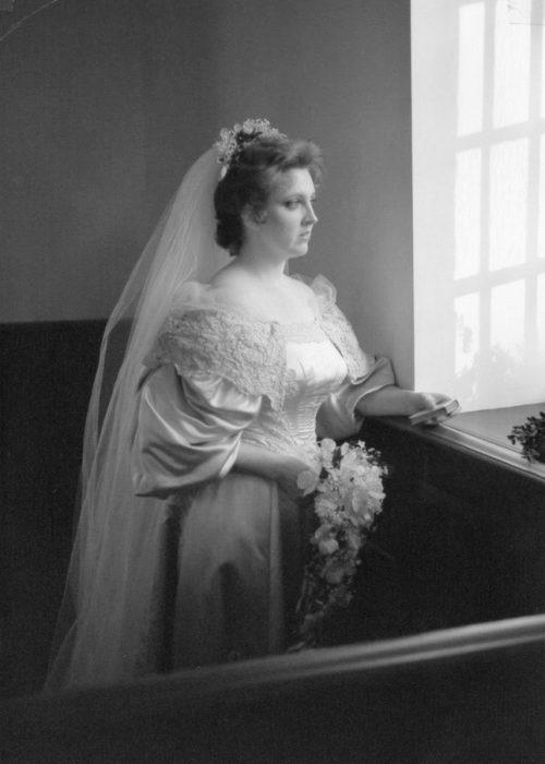 Séptima novia Janet Kearns vestido 120 años