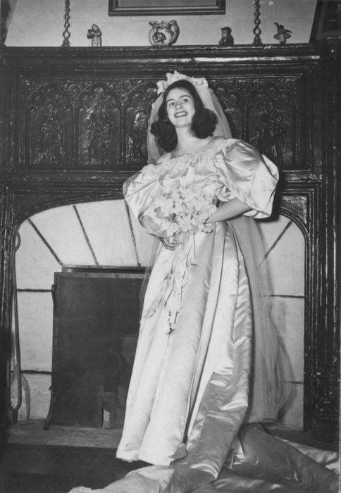 Jane Woodruff segunda novia vestido más de 120 años