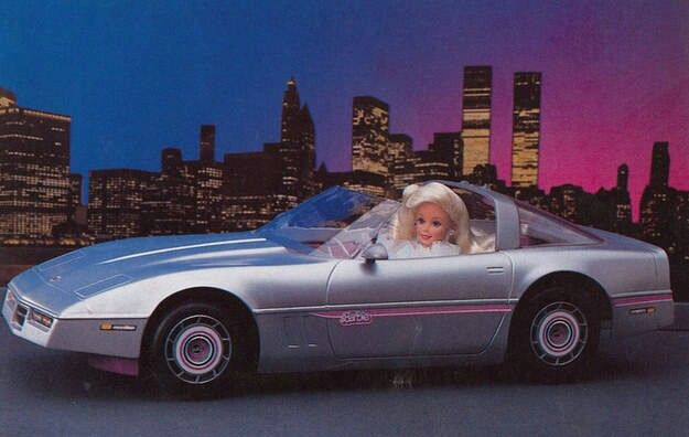 Corvette coche de Barbie 80s