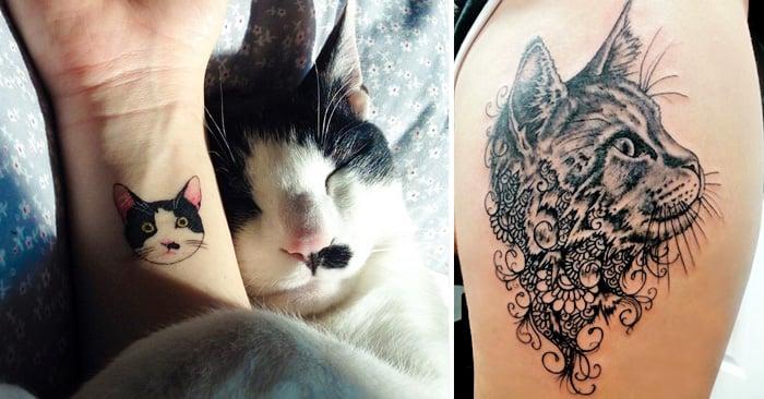 30 TATUAJES de gatos que a todo amante de los FELINOS les encantarán