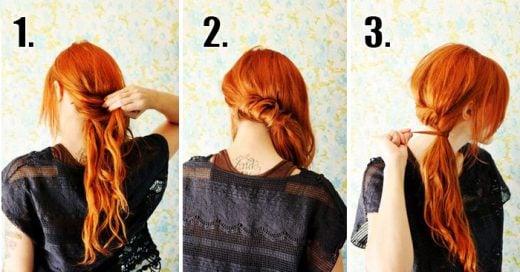 19 Peinados que puedes hacerte en 5 minutos ¡Perfectos para la falta de tiempo!