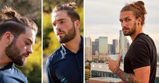 25 Hombres que demuestran que la barba y el estilo 'bun' son la combinación mas sexy