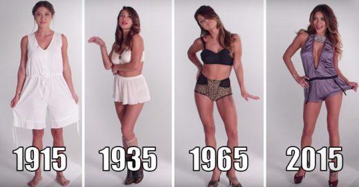 100 años de la ropa interior femenina en tan sólo 3 minutos