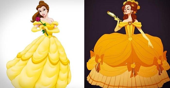 Así se verían las princesas de Disney si estuvieran vestidas de acuerdo a su época